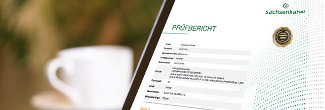 digitale Prüfprotokolle Sachsenkabel